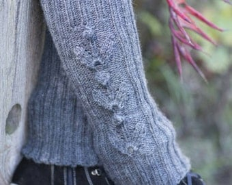 Leg warmers for women-Dark grey- boot cuffs-long boot socks