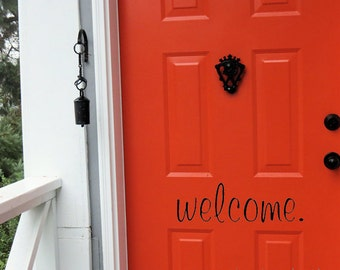 Welcome Vinyl Decal Etsy - How to create your own vinyl stickers at home