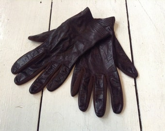 Vintage Ladies Leather Day/Driving Gloves