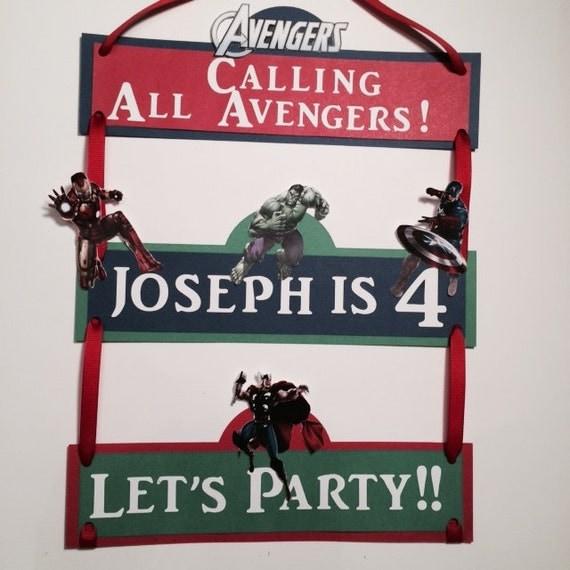 Avengers Birthday Banner Marvel Avengers By