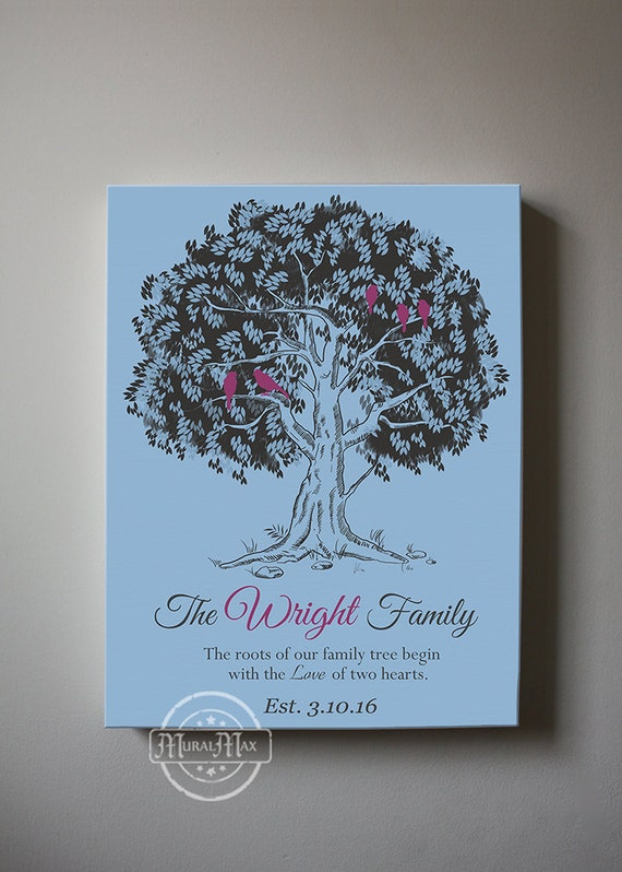 Personalised Wedding Gifts For Bride And Groom Singapore : Custom Wedding Gift for Bride and Groom Personalized Family Tree Gift