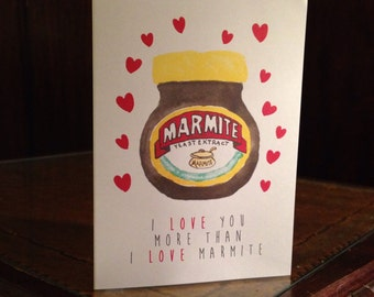 I love You More Than Marmite Mother's Day Card