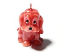 Beautiful hand made figural wax candle glossy cute dog animal