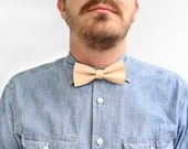 Leather Bowtie Nude / Tan Leather / Bow Tie for Men / Leather Bow Tie / Mens Bowtie / Boys Bowtie / Groomsmen Gift / Boyfriend Gift / Groom