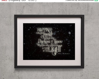 "20% Weekend Sale! Harry Potter ""Happiness can be Found in the Darkest of Times"" Poster Print - Albus Dumbledore"