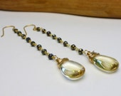 Gemstone Earrings // Spinel Earrings // Citrine Earrings // Dangle Earrings // 14k Gold Filled Spinel & Citrine Earrings