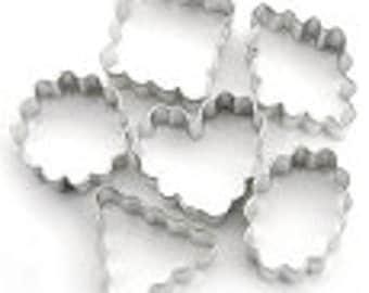 6 Piece Mini Crinkle Cookie Cutter Set
