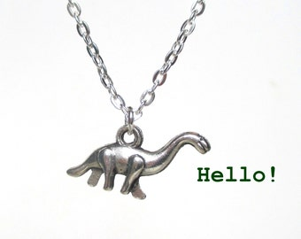 Dinosaur necklace - Diplodocus necklace - Dinosaur jewellery - Cute jewellery - Stocking stuffer - Stocking filler - UK seller