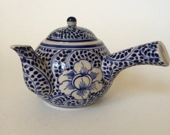 Vintage Blue and White Japanese Teapot