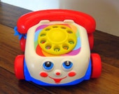 Fisherprice phone, vintage toy,Fisherprice Dial telephone,toy phone, toddler toy, Toy Phone at Designs By Willowcreek on Etsy