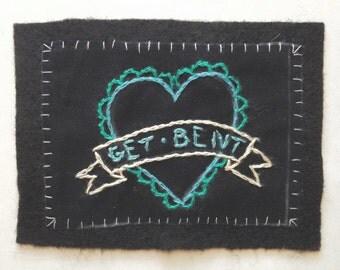 Get Bent Valentine Patch in Blue