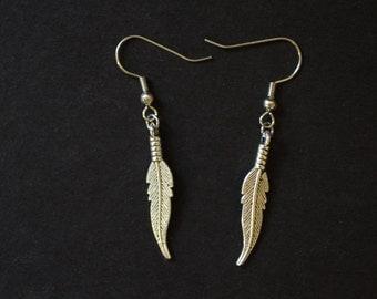Fancy Feathers Dangling Earring Pair