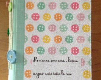 """Notebook-recycled paper diary """"congratulations Mom"""""""