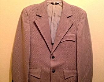 SALE Vintage 70s Brown Cream & Orange Stripe Blazer