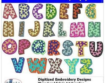 Embroidery Design CD - Polka Dot Caps(1) - 24 Designs - 9 Formats - Threadart