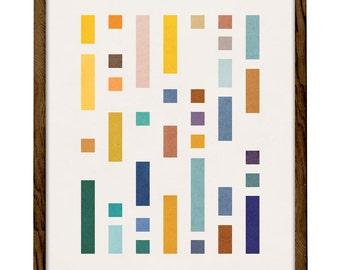 Code 2. Minimalist art Geometric print Nordic design Modern wall art Minimalist print scandinavian print mid-century print nordic print
