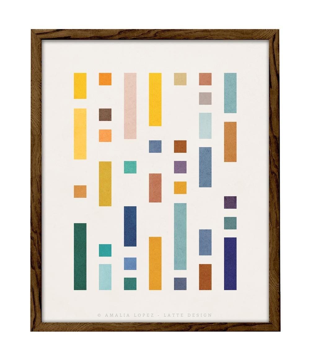 Codice 2 arte minimalista geometrica nordic design arte for Design personalizzato