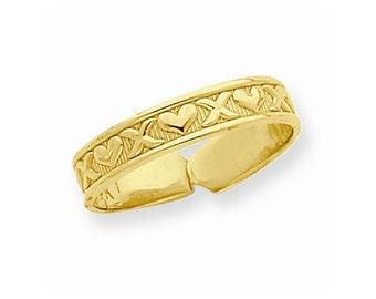 X & Hearts Toe Ring (R561)