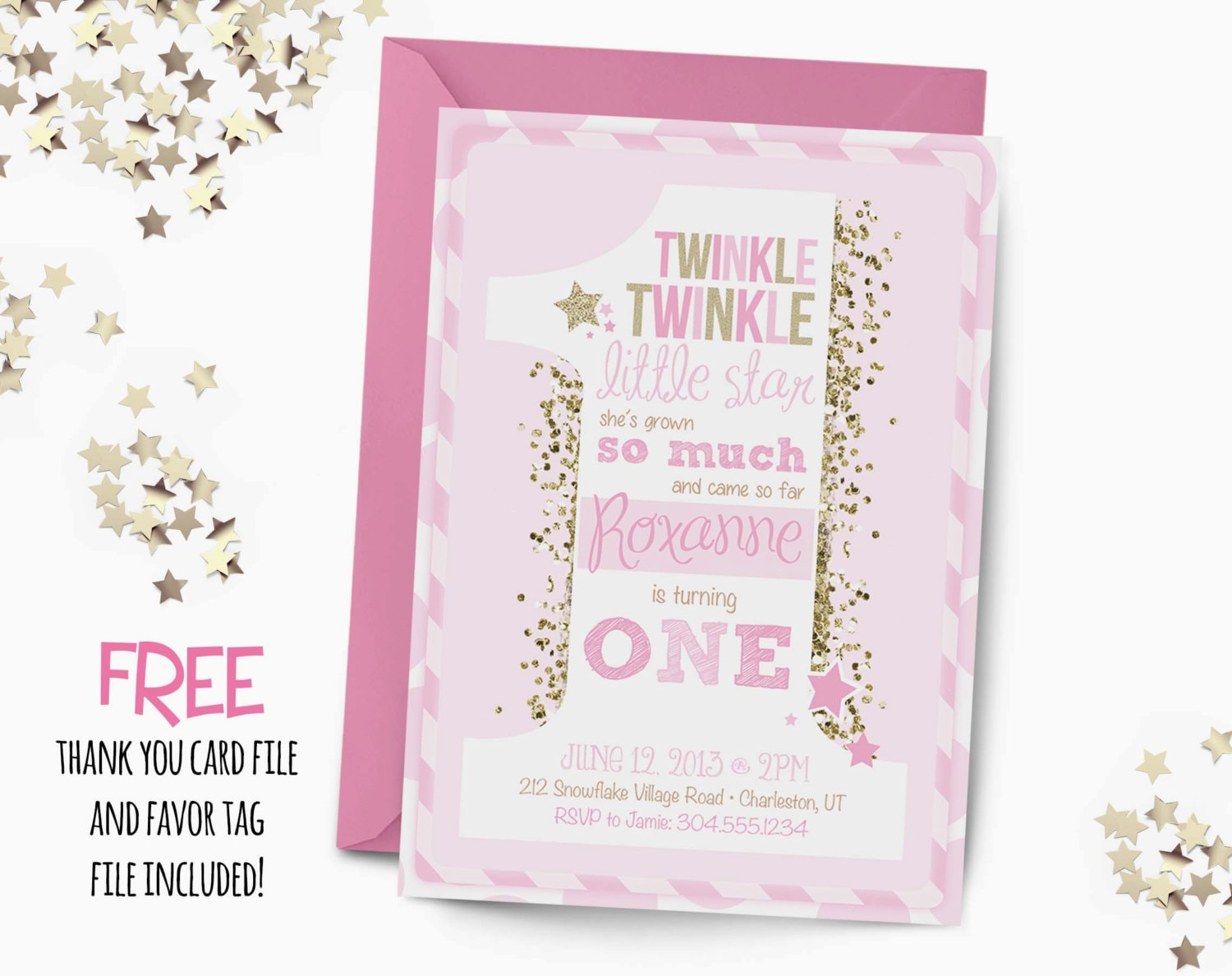Twinkle Little Star Birthday Invitations for best invitation sample