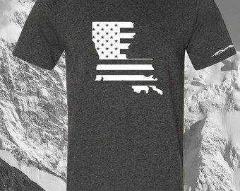American Flag Louisiana T Shirt ANY STATE AVAILABLE