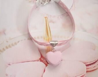 bracelet ribbon macaron