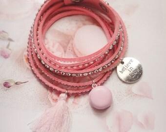 bracelet cuff macaron