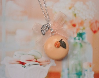 necklace macarons peach