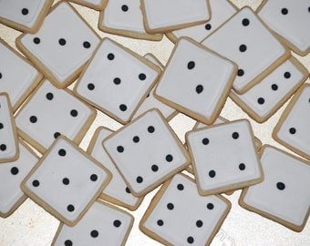 Mini Die Dice Hand Decorated All Natural Butter Cookies - 4 dozen