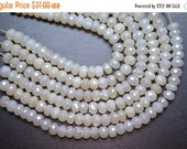 On Sale AAA 7 Inch Strand 8.5-9mm-Beautiful High Quality Lustrous Pearl Chalcedony Microfaceted Rondelle Beads Strand 32 Beads/Strand Apx(05