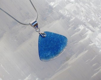 P5- Dichroic glass pendant and sterling silver .925
