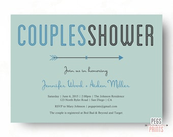 printable couples shower invitation couples wedding shower invitation his and hers shower invitation