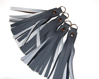Tassel Keychain, Vegan Leather Keychain, Key Fob, Tassel Keychain, Black Tassel, Purse Accessory, Zipper Pull, Tassel Keyring