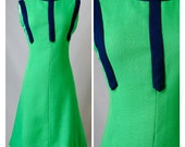 60s Kappi Vintage Green Mod Scooter Dress Appx Size Small/Medium (1960s)