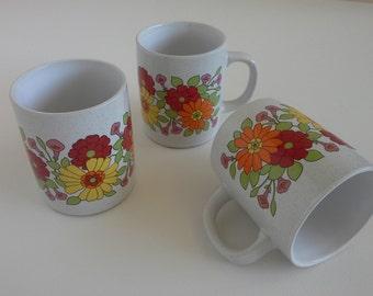 3 Vintage Coffee Mugs.