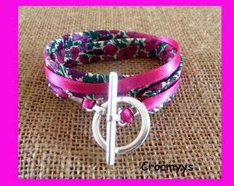 Liberty bracelet petal bud fuchsia