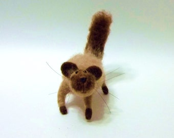 Grumpuss Is A Special Edition, Needle Felted Miniature Soft Sculpture Collectible Home Decor
