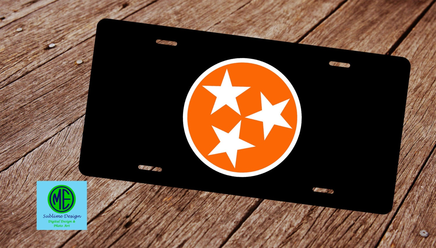 Tennessee State Flag License Plate License Plate Frame Tri
