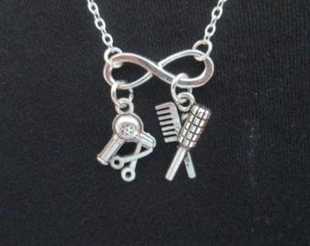 Infinity Hair Dresser Stylist Necklace