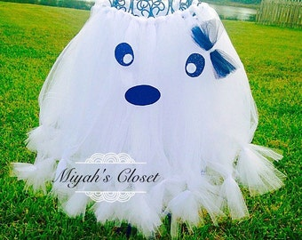 Bootiful Ghost Tutu Shirt ~ White Tutu Ghost Tutu Halloween Tutu