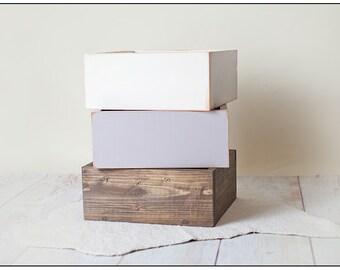 Basic Wooden Box Newborn Boy or Girl Photography Prop