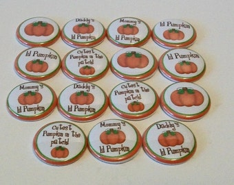 Fall Pumpkin Patch 15 1 Inch Flat Back Embellishments Buttons Flair Great for Bow Making