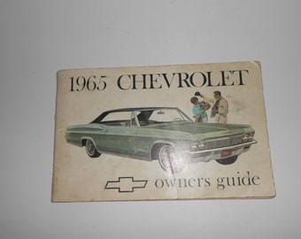 Vintage 1965 Chevrolet Owners Guide Manual Second Edition Nov 1964 GM
