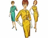 1950s Dress Pattern / Vintage Sewing Patterns / Simplicity 4173 Bust 36 Womens Sewing Patterns 50s Slim Fit Cocktail Dress & Jacket Pattern