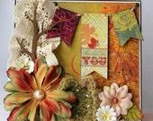 Autumn, Fall, Thankful for You, Greeting Card, 3D, Keepsake Card