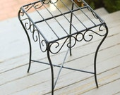 Wrought Iron Table Small Iron Table Top Stand or Pedestal
