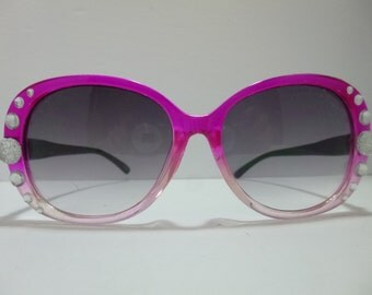 SNS-040 ~ Pink Sunnies w/ Crystal Embellishments