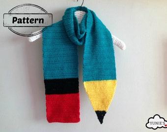 Crochet Pattern  : Pencil Scarf crochet tutorial
