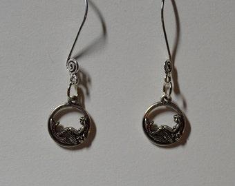Mermaid Swirl Ear Wire Earrings