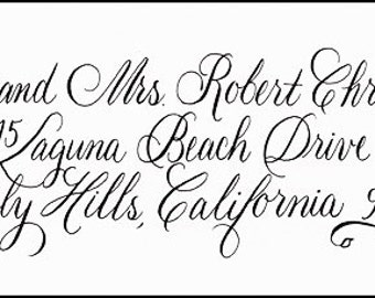 Custom Calligraphy Self INking Stamp
