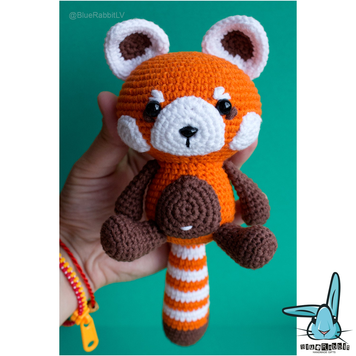 Amigurumi Red Panda : Red panda amigurumi crochet pattern. PDF file. DIY. Language